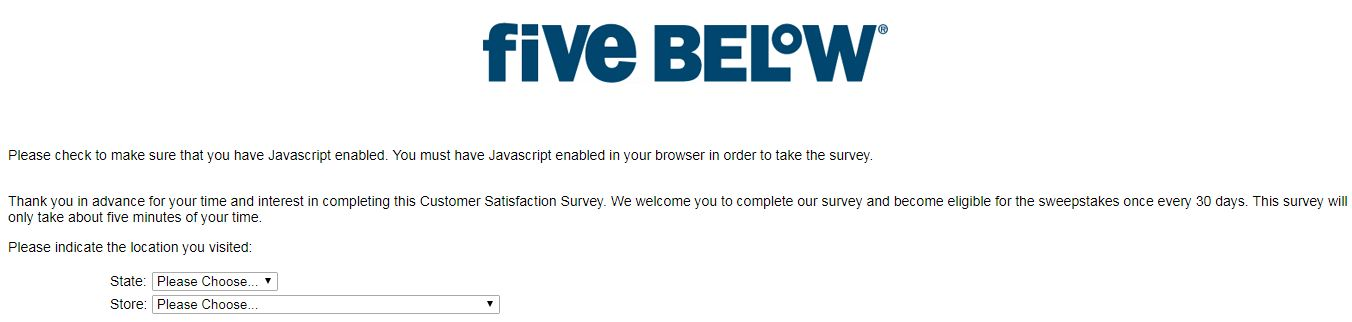 Five Below Survey & Win $100 Gift Voucher