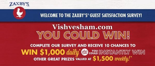 Myzaxbysvisit Survey & Win $ 1500 Prize