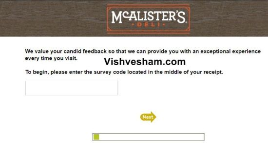 Talk to Mcalister's Deli Survey