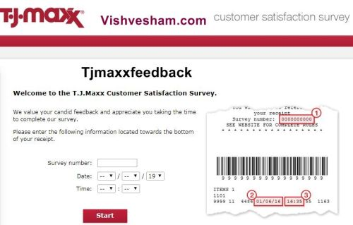 TjMaxxFeedback Survey & Support Phone Number