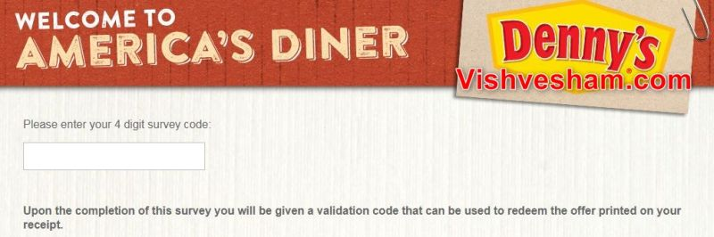 Denny's Listens Survey & Win upto $1000 Online